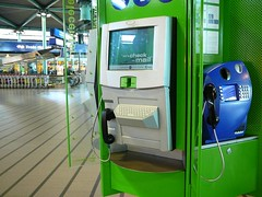 Infomataion and internet terminal, Schiphol airport, Netherlands