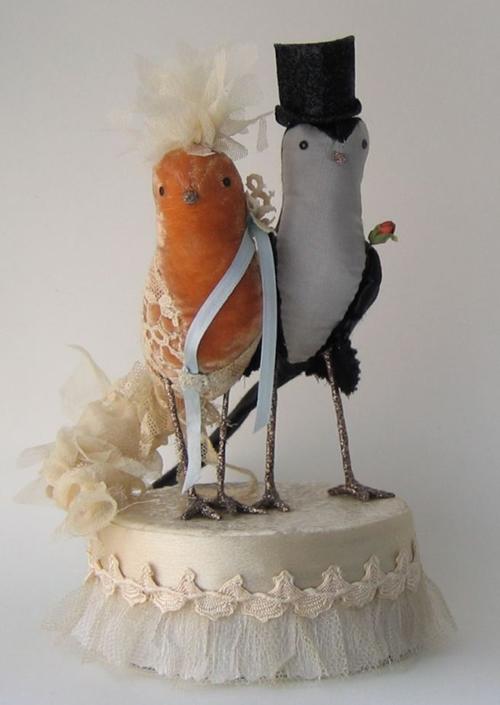 Ann Wood Bird Cake Toppers