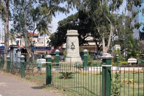 the War Memorial, Brigade Road-Residency Road junction