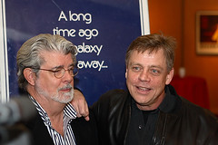 george lucas and mark hamill (Orrin) Tags: poster starwars actor beverlyhills celebrities director screening georgelucas ampas markhamill wiredcom alongtimeagoinagalaxyfarfaraway worthbillions