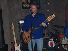 Jack Getz, of Stratocruiser,  playing a 12 string bass (just_plain_lucky_records) Tags: bass string 12 stratocruiser