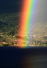 multicoloured (storm light) Tags: light sunlight rainbow colours bc bright arc multicoloured reflected raindrops okanaganlake refracted stormlight