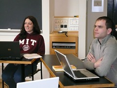 sarah and neal in class (alist) Tags: mit 02139 robison cmsmit