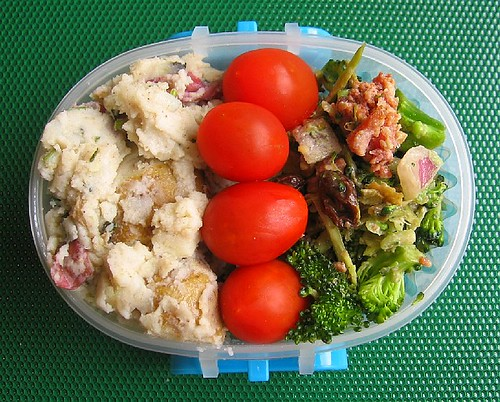 Indian potato salad snack bento