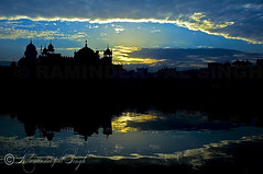 The Golden Temple Silhouette (Raminder Pal Singh) Tags: travel blue light sunset sky sun india inspiration reflection wet water beautiful weather silhouette buildings dark mirror golden ancient shrine meditate view respect god nirvana prayer religion culture belief style legendary divine reflect shade sacred nectar sikh seek ponder fabulous spiritual enlightenment domes sect sikhism mandir goldentemple acceptance pointed openness againstlight eminent supershot ostensible sachkhand anawesomeshot flickrplatinum superbmasterpiece travelerphotos