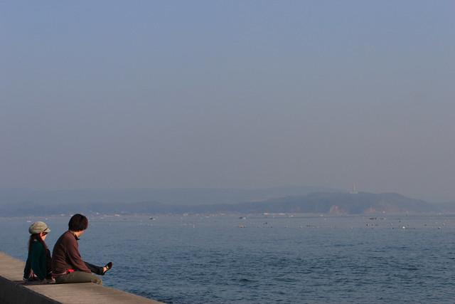 海沿いの遠近感