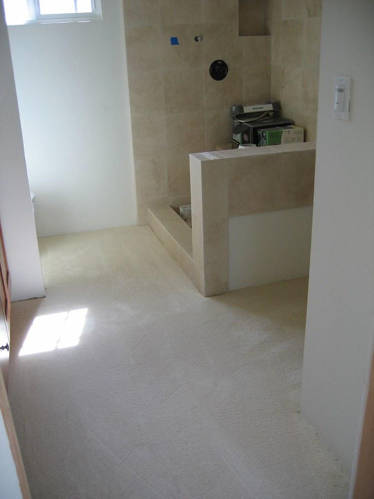 Master bath carpet
