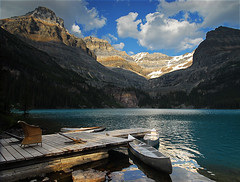 Canoes (Surreal McCoy (Alvin Brown)) Tags: mountain lake rockies canoe alpine yoho abigfave p1f1 superaplus aplusphoto favemegroup7 superhearts