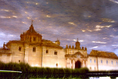 Monasterio de la Cartuja (magic reflection) (cmedrang) Tags: espaa reflection architecture sevilla spain arquitectura bravo magic reflejo estanque monasterio magia cartuja magica magicdonkey interestingness157 i500 cmedrang explore7may07