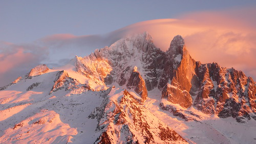 Alpenglow on Les Drus - 1