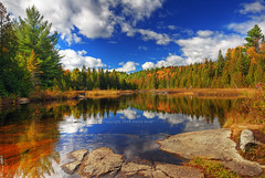 Dreamy Afternoon at the lake | Parc Mauricie, Quebec, Canada | davidgiralphoto.com (David Giral | davidgiralphoto.com) Tags: park blue autumn sky canada david reflection fall wow landscape nikon perfect afternoon cloudy quebec ripple quality dreamy ripples d200 mauricie parc giral nikond200 supershot 18200mmf3556gvr abigfave copyrightdgiral davidgiral flickrplatinum goldenphotographer bratanesque bestofr