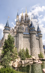 Castle Reflections (Stuck in Customs) Tags: pictures lighting light panorama reflection castle art texture water colors lines modern composition work reflections painting photography orlando intense nikon perfect exposure shoot artist mood photographer shot angle florida photos spires unique background details joy d2x perspective atmosphere happiness games images disney best disneyworld edge processing pro framing capture tones hdr treatment mostviewed highquality stuckincustoms treyratcliff focuspocus2