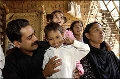 Christelijk gezin in Pakistan