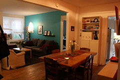 apartment therapy is complete! (jodi*mckee) Tags: livingroom diningroom coolaqua apartmenttherapyafter