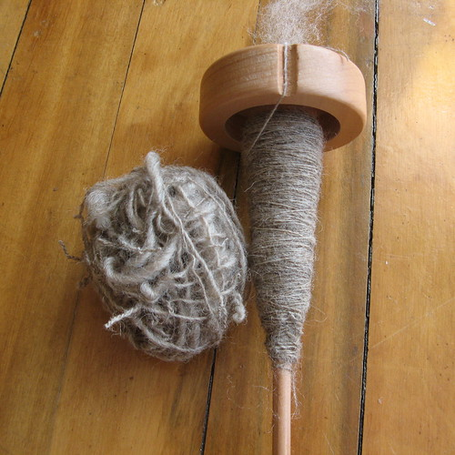 My first handspun singles