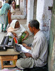 The Letter Writer (rita banerji) Tags: letterwriter women calcutta india illiteracy ritabanerji bengal geotagged kolkata abigfave goldenphotographer education gender letters communication fav 5000views womensliteracy literacy reading writing typewriter pavement woman typing literacyrate illiterate read write type communicate functionalliteracy