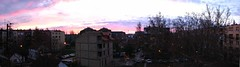 My first stich/panorama photo with S3 IS (Eldaglin) Tags: city blue red sunrise buildings pan novisad stich greatcolours