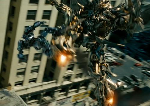 Transformers pelicula Megatron contra Jazz