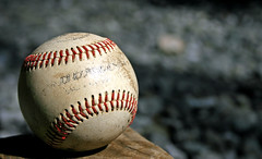 Wears Of Summers Past (Maxwell Edison*) Tags: summer sports playground fun backyard dof baseball bored american xti