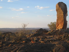088 the Living Desert (Parkaboy) Tags: summer sculpture art rock stone clouds bush dusk horizon australia bluesky newsouthwales outback remote aboriginal shape distance scrub brokenhill livingdesert asfarastheeyecansee barrierranges sculpturesymposium bajoelsoljaguar sundownhill underthejaguarsun