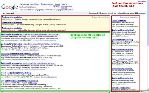 zoekmachine adverteren en zoekmachine optimalisatie