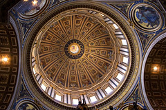 St Peters Basilica Dome (tamilian / photo-capture.co.uk) Tags: italy vatican stpeters rome roma history church architecture canon roman dome sathish stpetersbasilica tamilian canon30d photocapturecouk