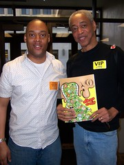 Masheka Wood and Larry Fuller with Masheka's new book, Deep Doodle