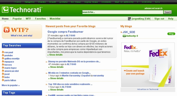 Technorati Web