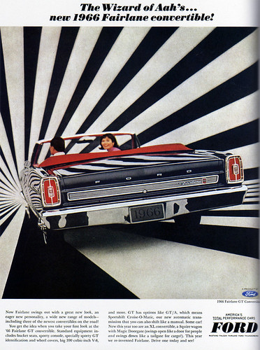 1960s Advertising - Magazine Ad - Ford Fairlane Convertible (USA) / Daniel Yanes Arroyo