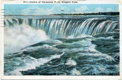 Postcard: Centre of Horseshoe Falls, Niagara Falls