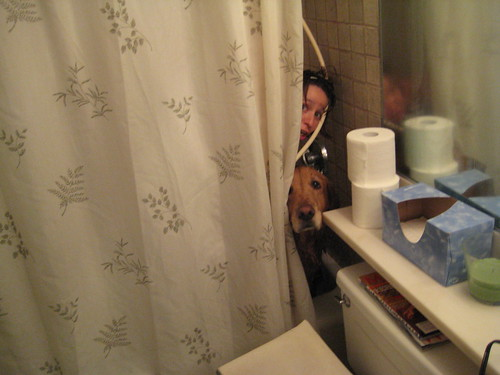 Two Scared Kids - Cason Gets a Bath