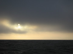 fog & sun (lawatt) Tags: cloud sun water fog sanfranciscobay fridaynight