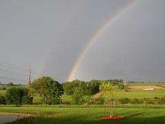 Double Rainbow (Hammer51012) Tags: geotagged rainbow olympus iowa cherokee doublerainbow soe secondaryrainbow sp550uz