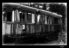 Without passengers - Sin pasajeros (EddyB) Tags: old blackandwhite bw espaa white black station train wagon tren spain nikon d70s rail viejo vagon eddyb instantfave blackandwhiteaward ltytr2 ltytr1