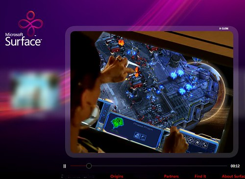 Microsoft Surface StarCraft