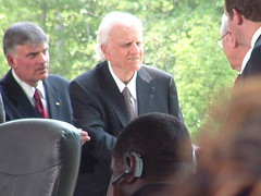Billy Graham Arrives