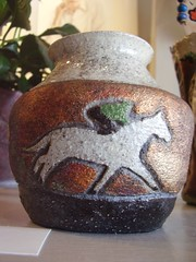 Terri Smith Raku Pottery with horse
