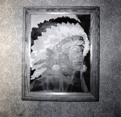 EIL-early1953-02 (Paul-W) Tags: boston painting massachusetts indian chief feather east 1953 eastboston headress marionstreet