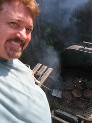 365.003 Grillin' Burgers (Diogioscuro) Tags: selfportrait me self backyard yo eu io hamburgers vannuys barbeque dws 365days diogioscuro