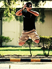 Going Crazy.. (Guccino) Tags: smile fun crazy jump friend cam picturecollection guccino bsaudoun