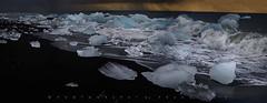 Sunrise over black iceberg beach, Jokulsarlon, Iceland (Franci Van der vyver (Carmen Tulum)) Tags: jokulsarlon iceberg icebergbeach iceland watercycle blackbeach ice translucent blue blueice glacier glacierice