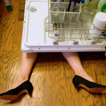 she always said that crappy dishwasher would be the death of her...