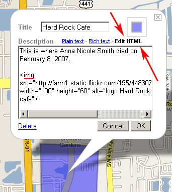 Google My Maps (Embed HTML)