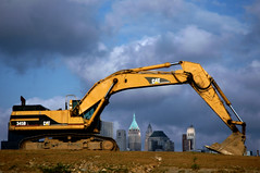 Bulldozers and dirt (Chance98) Tags: nyc newyorkcity newyork jerseycity nj dirt newyorkskyline bulldozers jerseycitynj