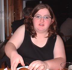 Lisa at dinner