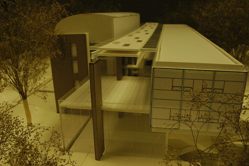 UW Architectural Commission, model of the new Business School building on the Seattle campus