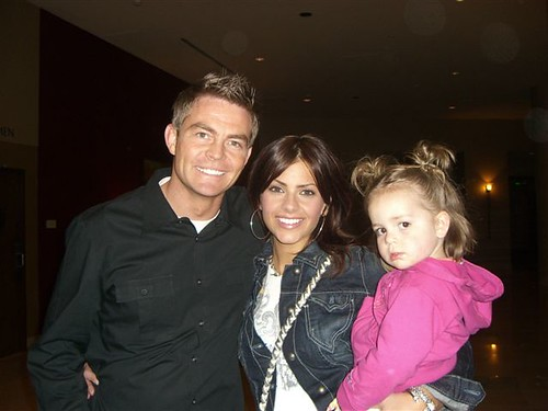 Michelle Money from The Bachelor with her ex-husband and daughter in 2007