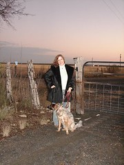 Me & Molly at Front gate of Ranch (Texas to Mexico) Tags: ranch family people dog me rural gate texas farm canine australianshepherd lonestarstate knippa smalltowntexas uvaldecounty smalltexastown