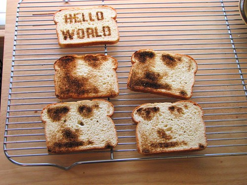 Toast on the cooling rack