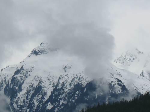 Snowy mountaintop